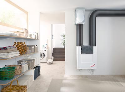 Photo d'une installation de ventillation