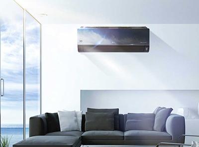 Photo d'un séjour avec une climatisation